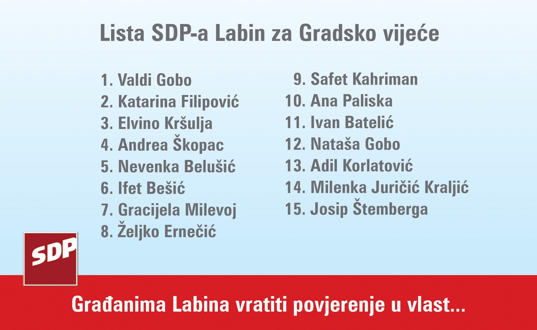 lista SDP Labin